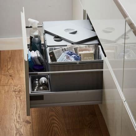 sink recycling bin 35l pan drawer recycling bin kitchen waste management