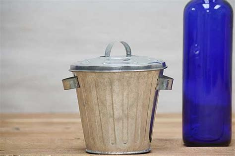 Mini Trash Can mini metal trash can mini galvanized trash can