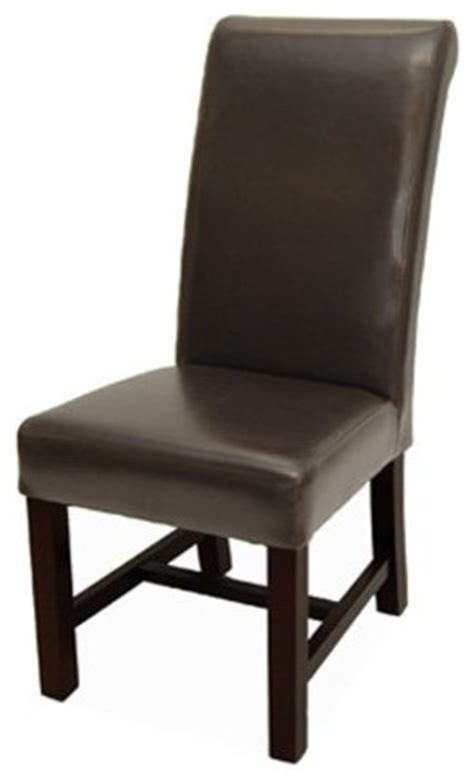 Rv Dining Chairs Rv 402 High Back Leather Dining Room Chair With Roll Chestnut Brown Traditional Dining
