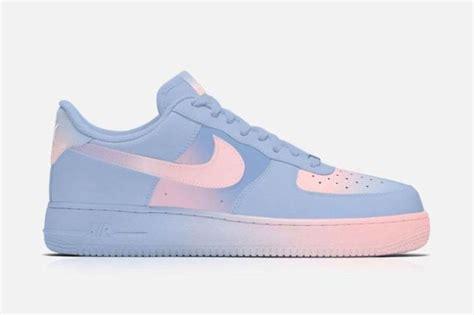 color air ones iconic pastel sneakers pantone air ones