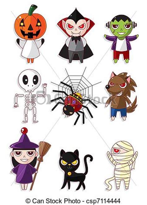imagenes monstruos halloween eps vector de monstruo halloween caricatura iconos