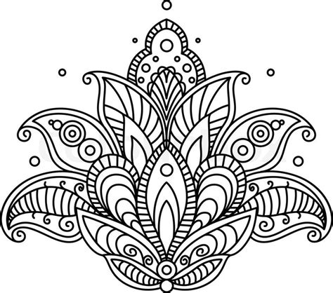 pretty designs coloring pages stock vector of pretty ornate paisley flower design