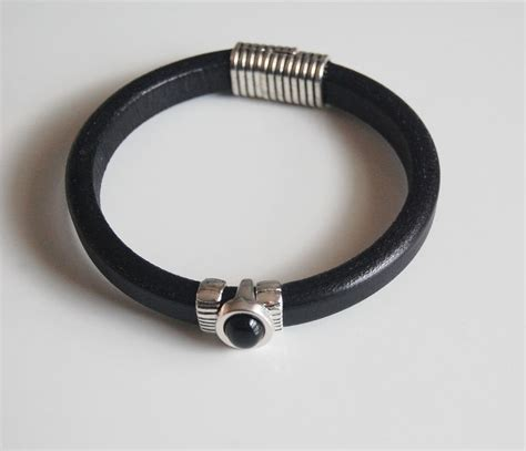 Gelang Dominica Leather Bracelets s black licorice leather bracelets leather bracelets mens ferozasjewelery pinklion