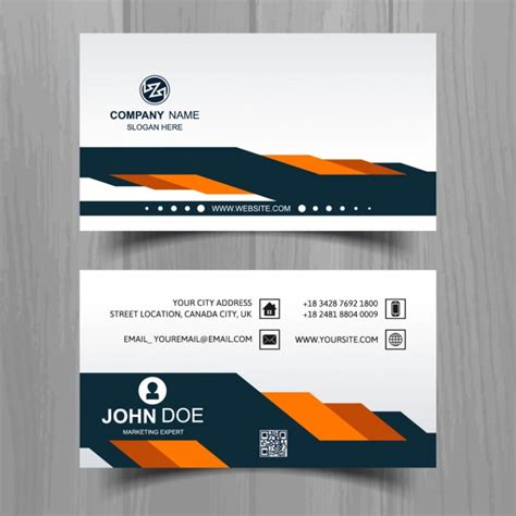 free orange and blue business card templates modern business card with blue and orange shapes vector