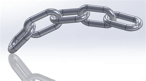 solidworks tutorial chain chain links solidworks 3d cad model grabcad