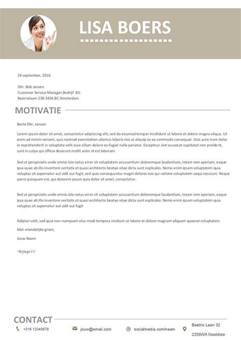 Originele Cv Sjabloon Gratis gratis minimale cv met motivatiebrief voor een