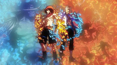 piece luffy  ace wallpapers wallpaper cave