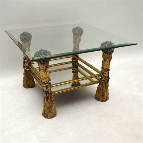 decorative glass table 1960 s vintage brass glass decorative coffee table