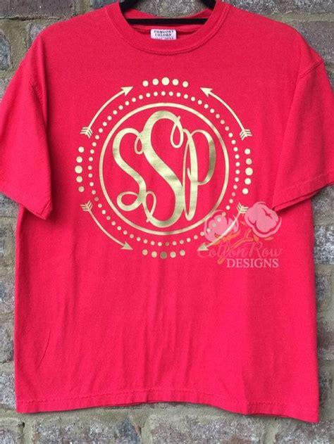 design vinyl shirt circle arrow monogram shirt by cottonrowdesigns on etsy