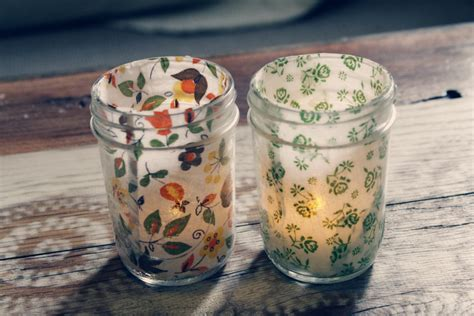 Decoupage Candle Jars - 15 unique tealight candle projects
