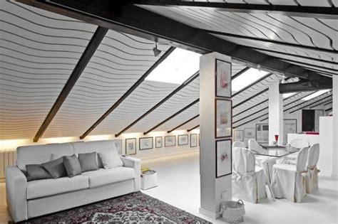 arredare mansarda moderna open space in mansarda progetto