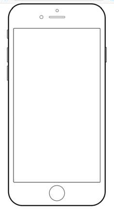 Iphone 6 Drawing Template Paternoster Pinterest Template Ux Design And Mockup Iphone Layout Template