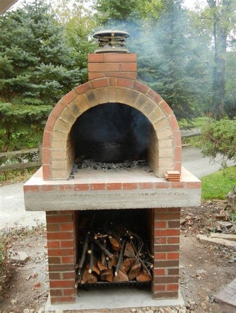 Homemade Outdoor Pizza Oven Plans Wood Burning Pizza Backyard Brick Oven Plans