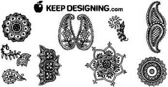indische henna design kostenlose vektor design elemente