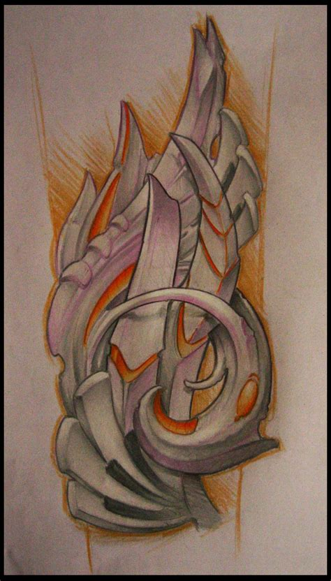 biomechanical forearm design by sideusz on deviantart