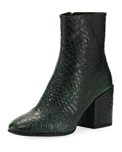 dries noten embossed leather ankle booties neiman