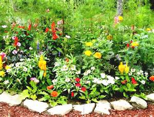 Flower Garden Blogs Awesome Front Yard Flower Garden Ideas With Colourful Flower Plants Goodhomez