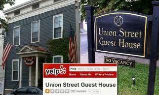 union street guest house union street guest house charges 500 for each negative yelp review daily mail online