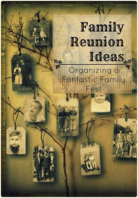 family decorations family reunion ideas