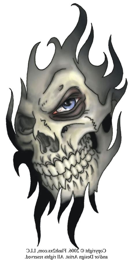 free skull tattoo designs to print skull with tribal designs best design