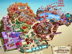 california adventure land map california adventure map with cars land california map