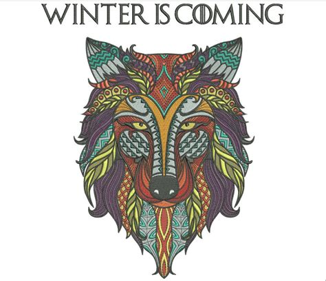 design by humans game of thrones zentangle wolf design winter is coming game of thrones