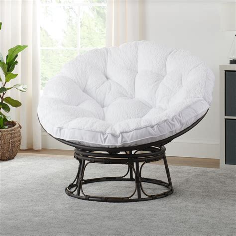homes gardens papasan chair  sherpa cushion
