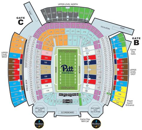 field seating chart heinz field seating chart www imgkid the image kid