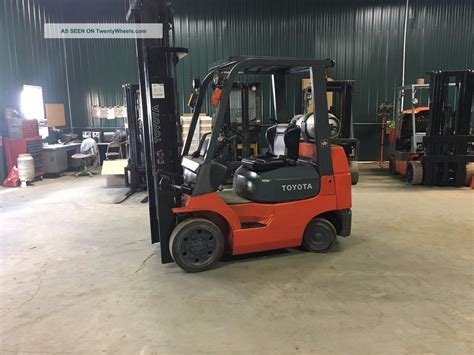toyota 7fgcu25 forklift 187 quot mast side shift