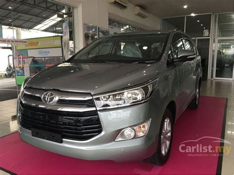mpv car 2017 toyota innova 2017 g 2 0 in perak automatic mpv grey for