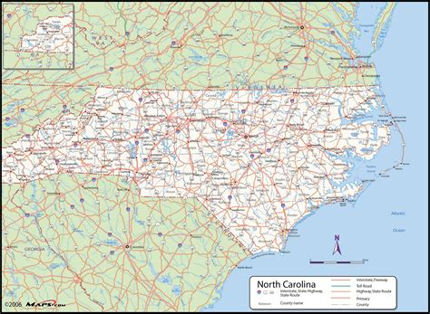 nc counties map carolina county wall map maps