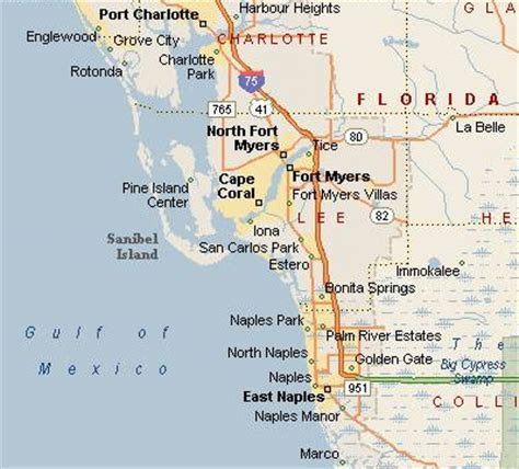 map of southwest florida holidays sanibelsusan susan s
