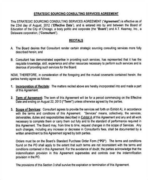 consulting fee agreement template consulting agreement exle