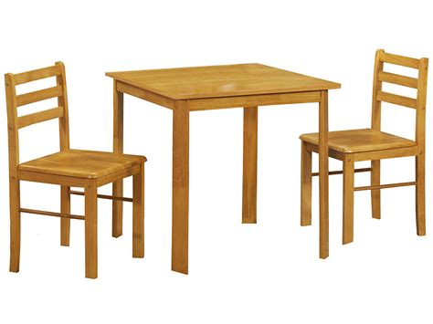oak finish small square dining table and chair set