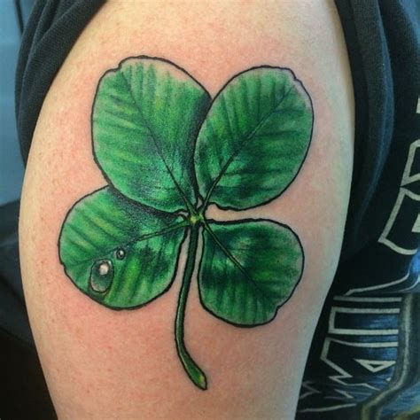 tribal clover tattoo four leaf clovers tattoos creativefan