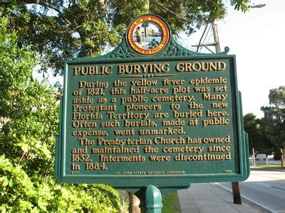 """""""public burying ground marker, st. augustine, fl"""" by"""