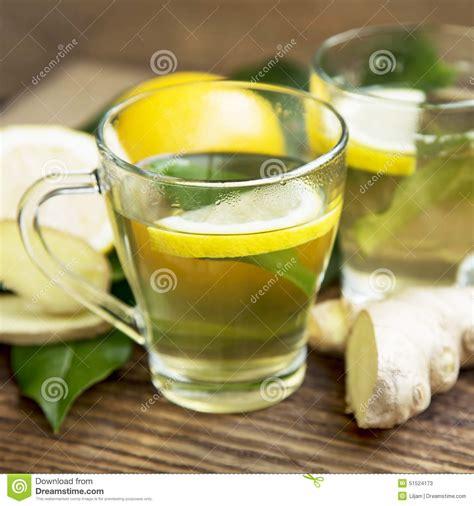 Detox Green Tea Lemon by Green Tea With Lemon Stock Image Image Of Herb Nature