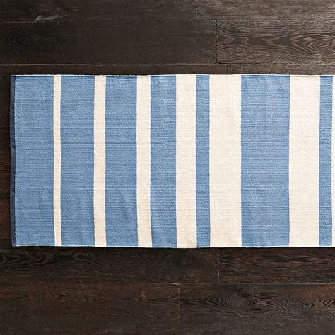 blue and white stripe rug the gradiated stripe rug in white and blue