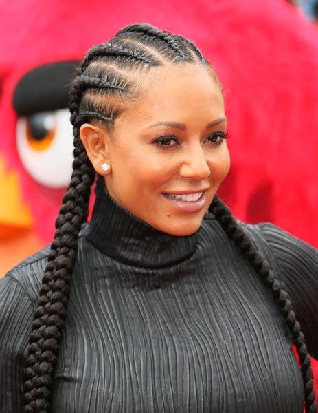 mel b hairstyles melanie brown long cornrows hair lookbook stylebistro