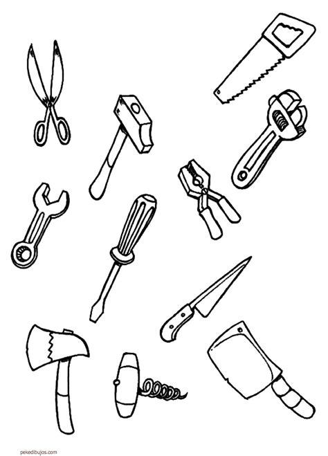 imagenes infantiles herramientas dibujos de herramientas para colorear