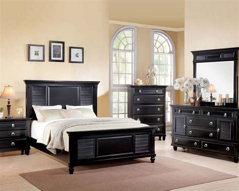 Acme Bedroom Set Merivale Black Ac22440set Acme Bedroom Furniture