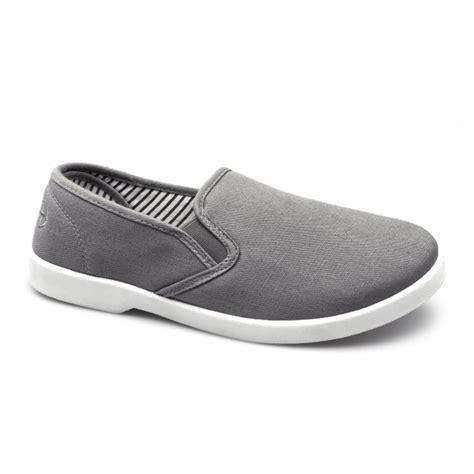 dr keller yacht mens canvas wide slip on shoes grey buy