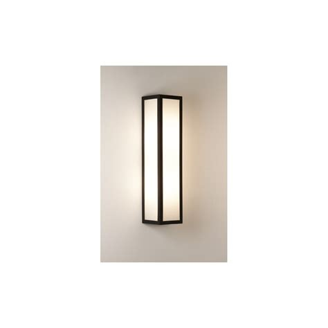 contemporary outdoor lighting uk frosted glass ext wall light h 250mm asteria modern led up