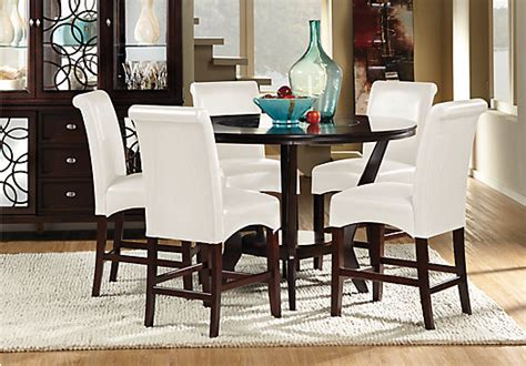 cindy crawford home highland park ebony 4 pc counter highland park ebony 5 pc counter height dining room