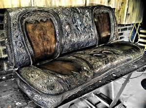 tooled leather custom seat for a show truck original