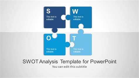 swot analysis powerpoint template slidemodel