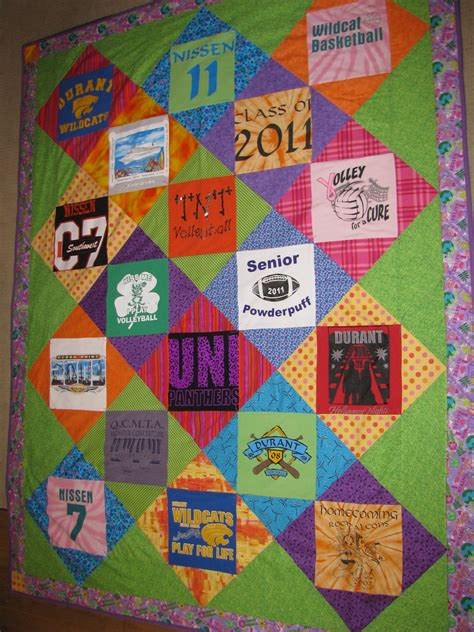Quilting T Shirt Quilt by Keepsakesewing Graduation T Shirt Quilt