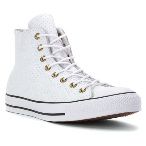 converse chuck all high top perf leather