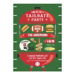 tailgate bbq football invitation zazzle