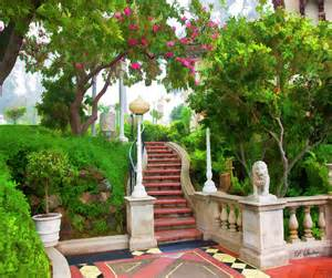 gardens at hearst castle digital by stalter